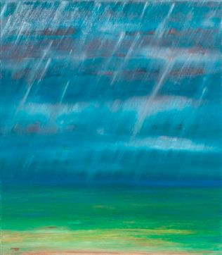 aus der Serie Himmel und Erde 80x70 cm Öl auf Leinwand 2011