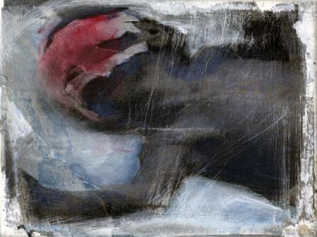 Kriegskind 2 - Öl, Collage auf Lwd, 13x18, 2014 Kopie