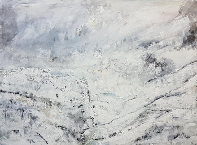 14 Alpenlandschaft - Öl auf Lwd, 90x120cm, 2018